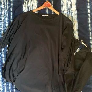 Zara TRF Black Cotton Tunic